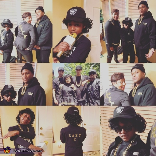 Miche'le, Dr. Dre, and Eazy-E Homemade Costume