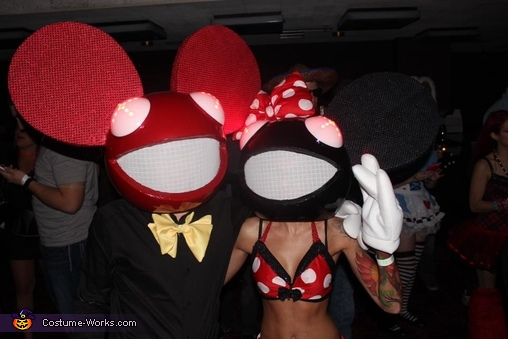 Pic From Skyway Theater - Zomboy, Mickey and Minnie Deadmau5 Couple's Costume