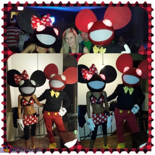 Collage I made from the First Night we went out!!, Mickey and Minnie Deadmau5 Couple's Costume