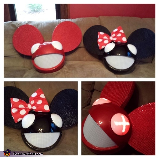 Mickey and Minnie Mau5heads!!, Mickey and Minnie Deadmau5 Couple's Costume