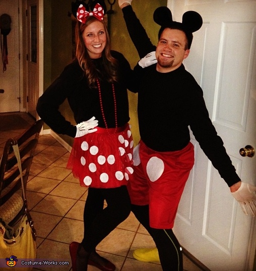 Mickey and Minnie Mouse Couple's Costume