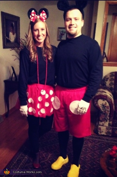 mickey and minnie mouse homemade costume