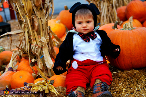 Ok, so how long do I sit still for a pic, you know-'I AM A TODDLER MICKEY', Mickey at the Pumpkin Patch Baby Costume