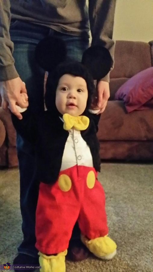 Mickey learning to walk!!!, Mickey Mouse Baby Costume