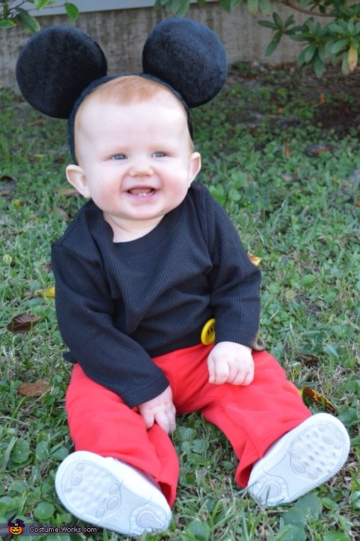 Mickey Mouse Baby Homemade Costume