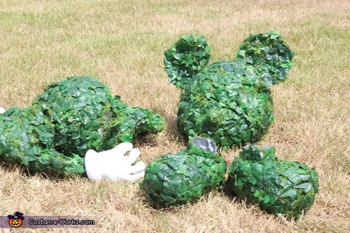 Mickey Mouse Topiary Homemade Costume