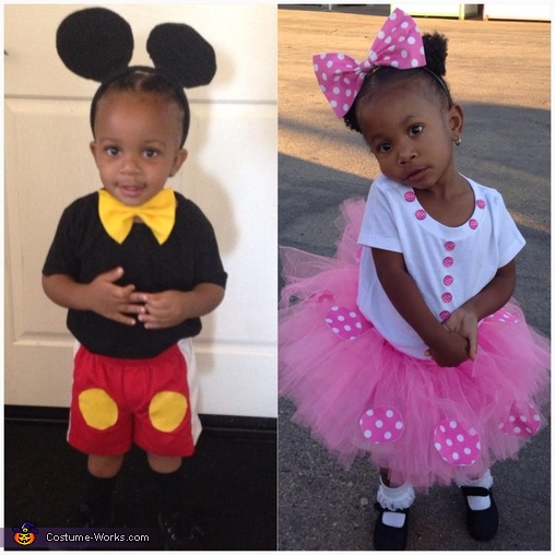 Simple & Cute Mickey & Minnie Mouse Costumes