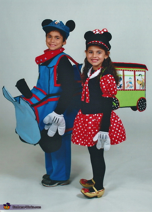 Mickey & Minnie Train Set Costumes