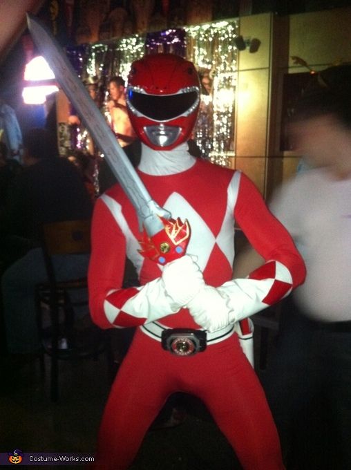 Red Mighty Morphin Power Ranger Costume