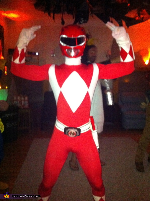 You're going down, Rita!, Red Mighty Morphin Power Ranger Costume
