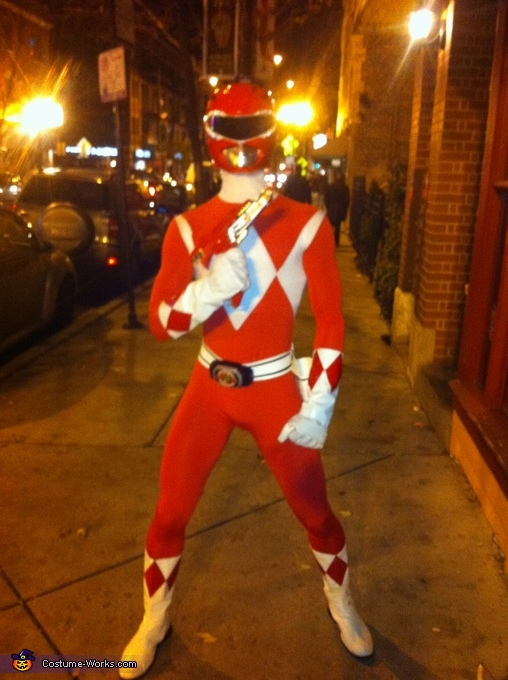 Blade Blaster, Red Mighty Morphin Power Ranger Costume