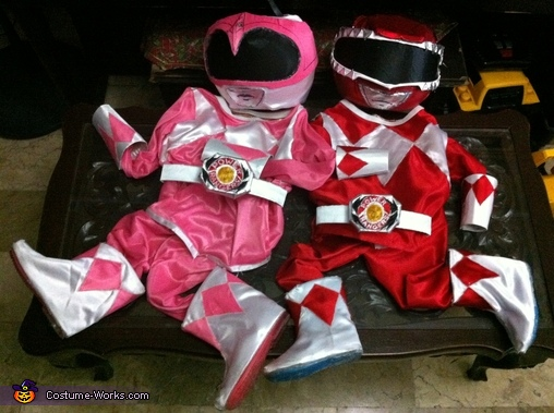 Costume's layed out, Mighty Morphin Power Rangers Costume