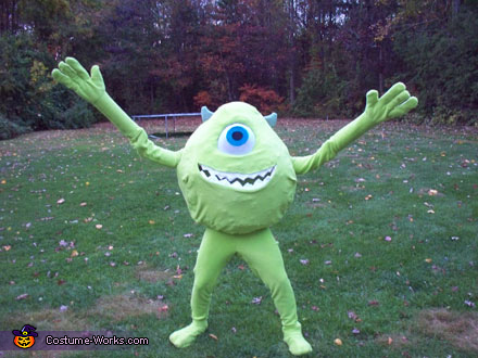 Monsters Inc Mike Wazowski Costume Photo 2 3
