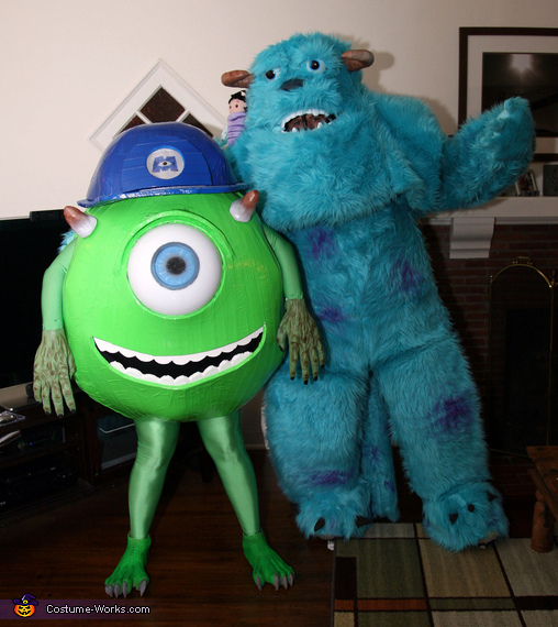 85f036d74d74 Homemade Mike and Sully Costumes