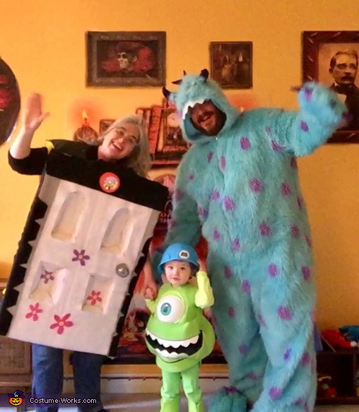 Mike, Sully, and Boo's door Monsters Inc Costume