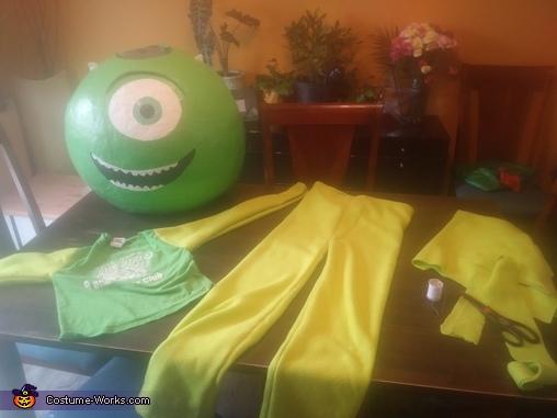Mike Wazowski Homemade Costume