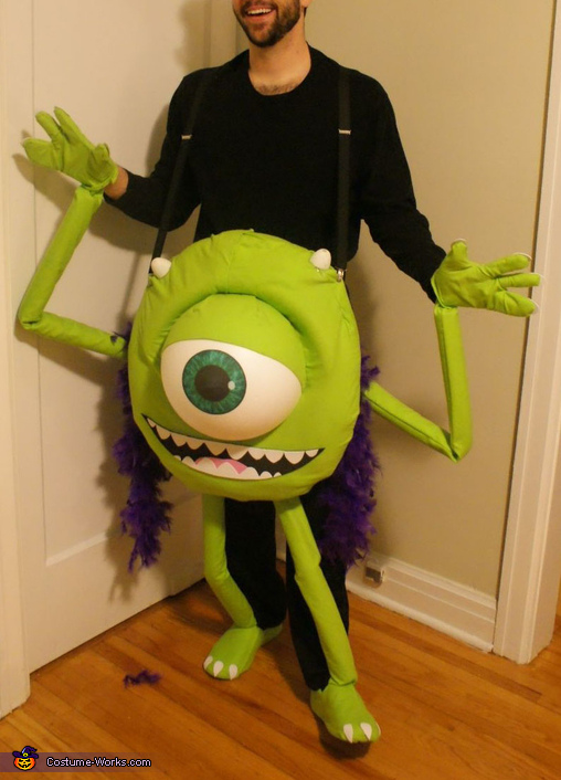 DIY Mike Wazowski Costume