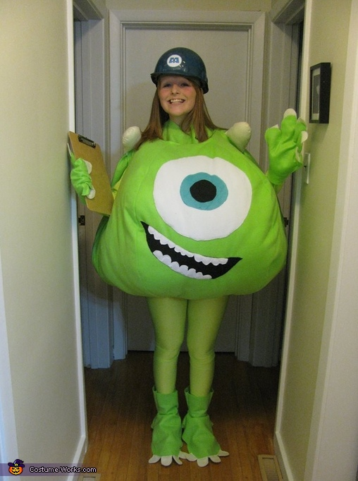 afc41b3f481d Mike Wazowski Costume DIY