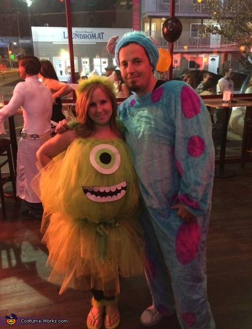 Mike Wazowski and Sulley Couple Costume