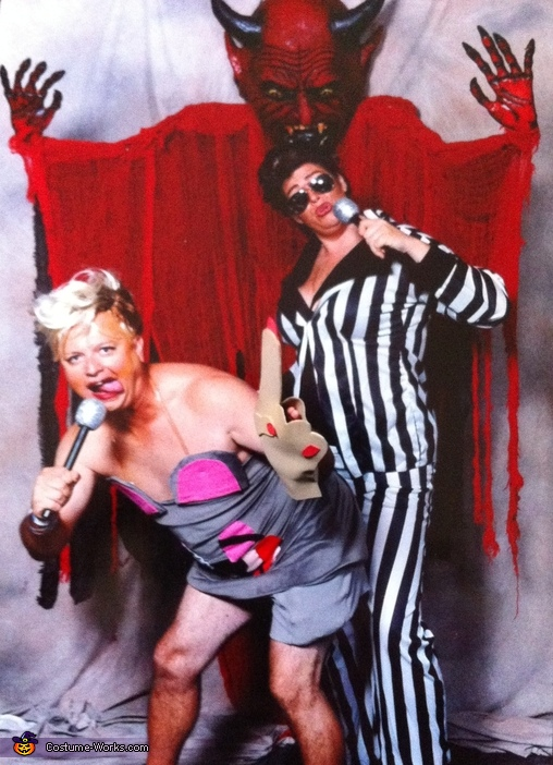 Miley with Robin Thicke Homemade Costume