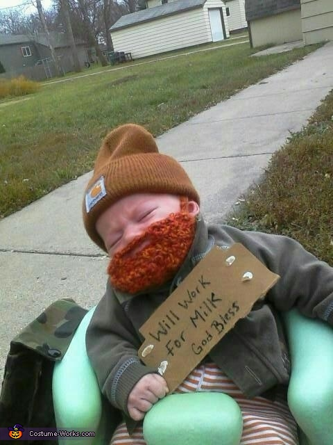 Milk Drunk - Homemade costumes for babies