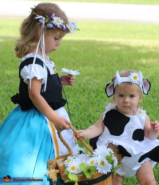 Milk Maid and Daisy Cow Costume