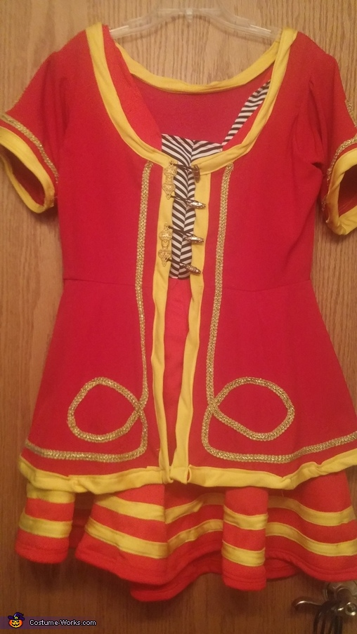 Dress only view, Miller High Life Girl Costume