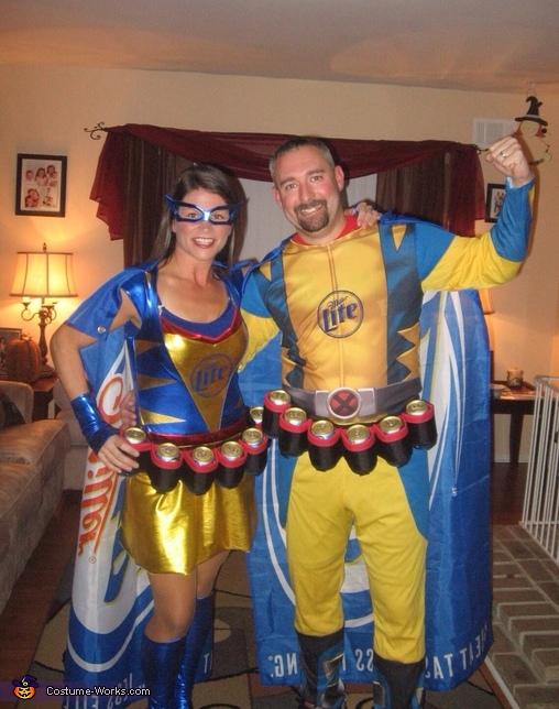 Miller Lite Super Heros Costume