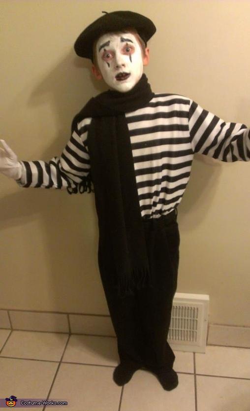 Mime Costume  sc 1 st  Costume Works & Mime Childu0027s Costume