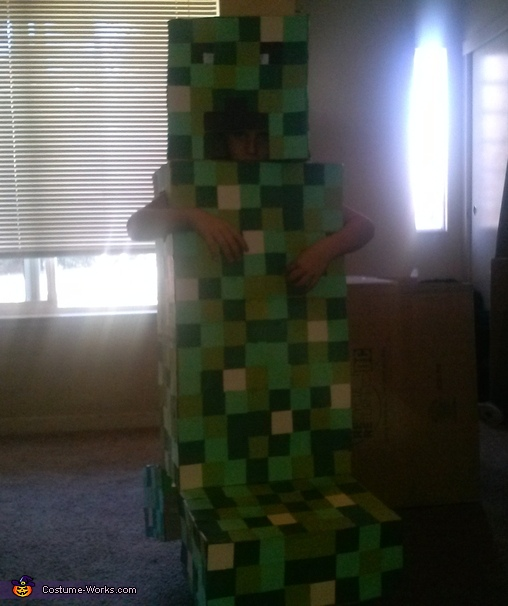 The Creeper, Minecraft Family Costume