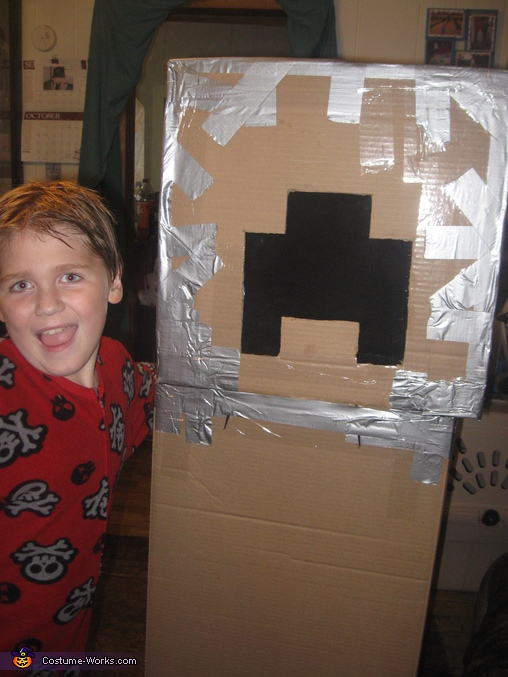 Bare bones, before paint., Minecraft Creeper Costume