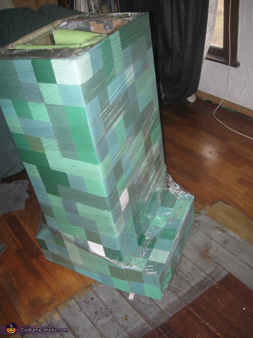 'suspenders', Minecraft Creeper Costume