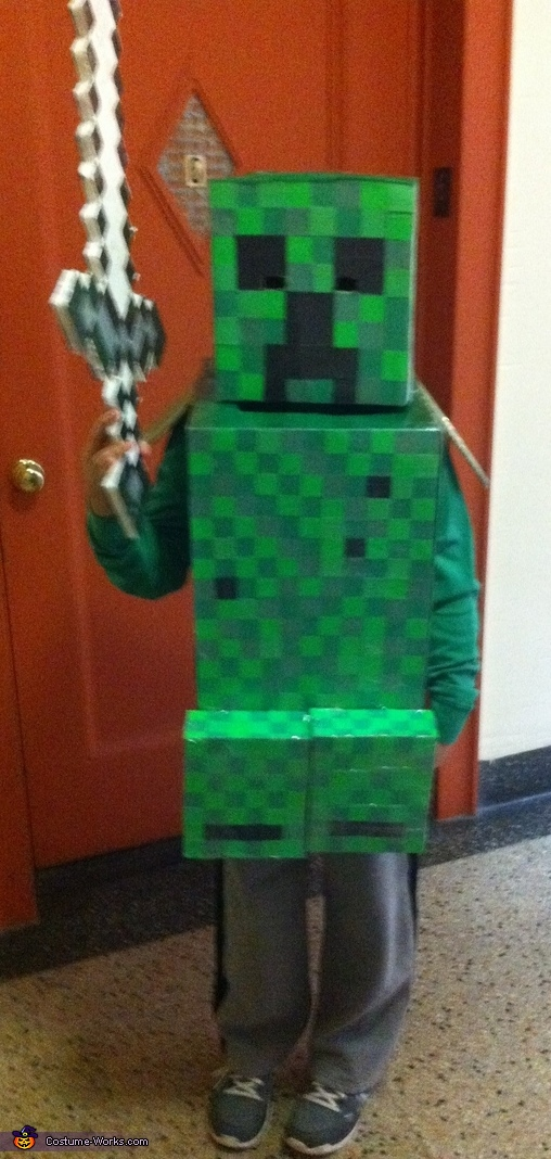 Homemade Minecraft Creeper Costume