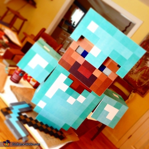 Finished project, Minecraft Diamond Armor Steve Costume