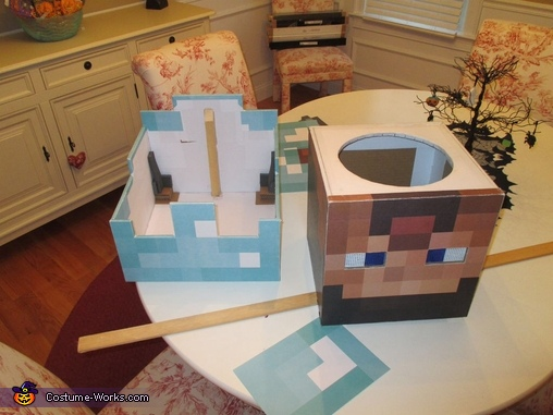 Detail 1, Minecraft Diamond Armor Steve Costume