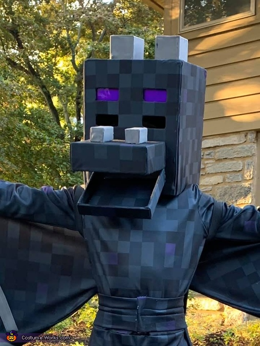 Head, close up, Minecraft Ender Dragon Costume