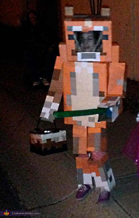 Minecraft inspired Stampy Costume