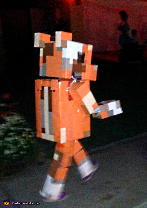 Stampy walking - never out of character, Minecraft inspired Stampy Costume
