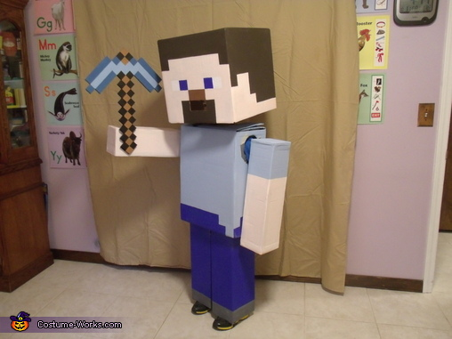 Colton as Minecraft Steve, Minecraft Steve Costume