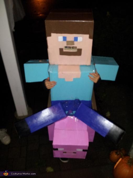 Steve Needs Candy Too!, Minecraft Steve Costume