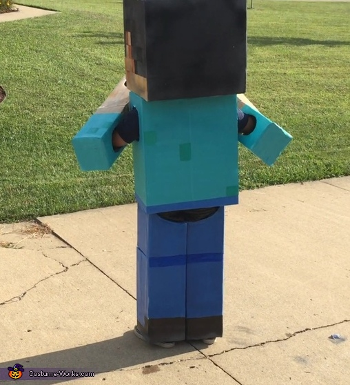 DIY Minecraft Steve Halloween Costume