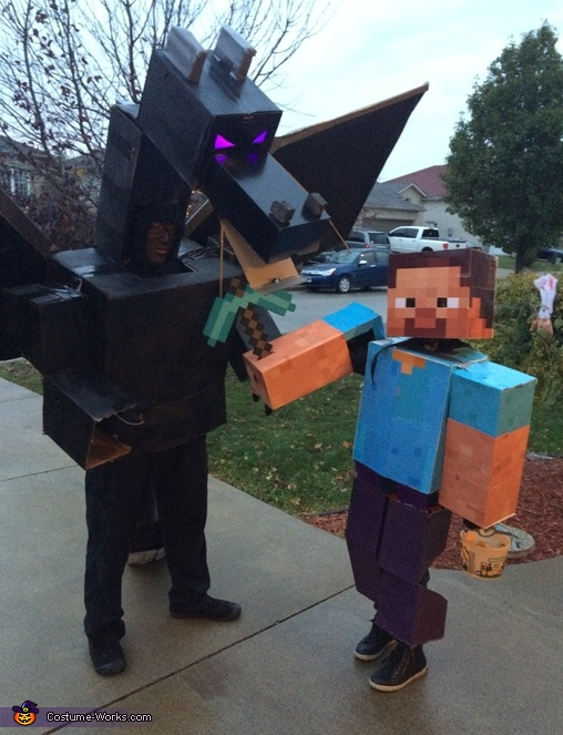 minecraft steve and ender dragon costume