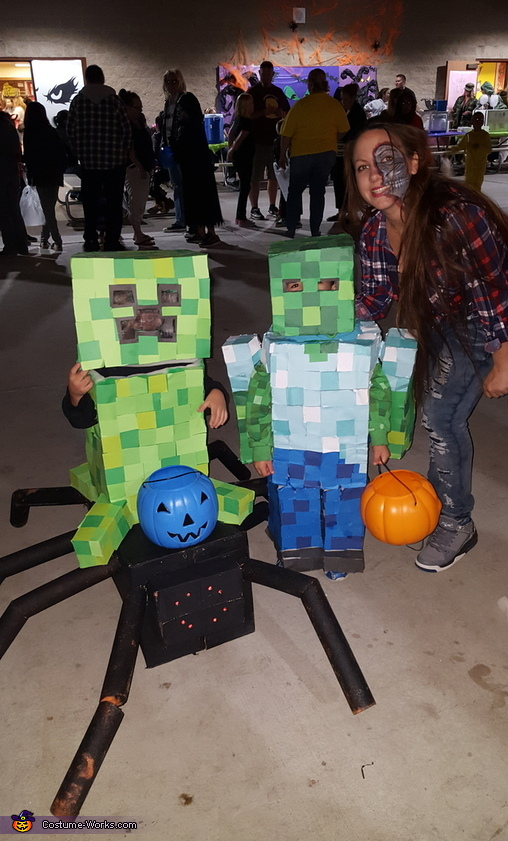 Minecraft Zombie & Creeper Jockey Costume