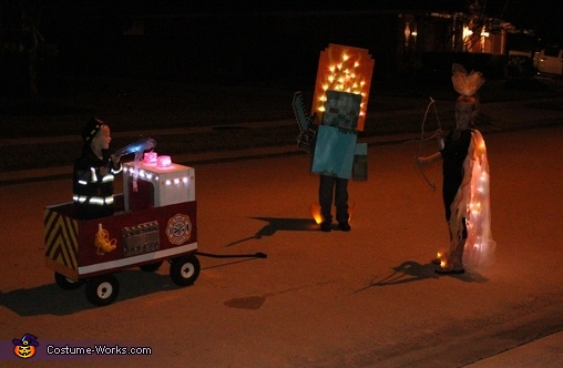 Minecraft Zombie on Fire Homemade Costume