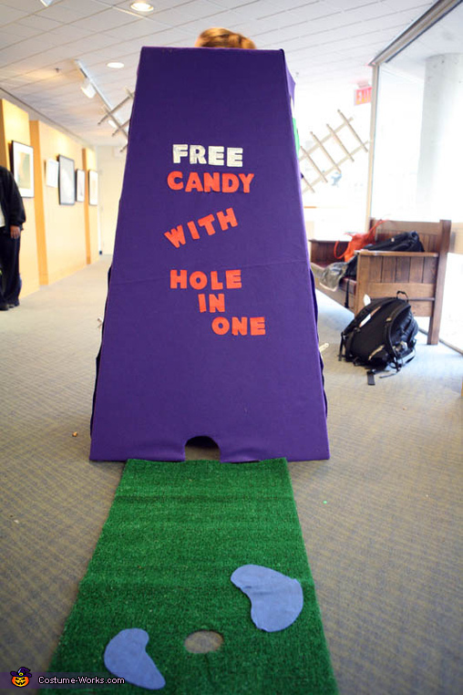 Back view - free candy?! Let me try, Mini-Golf Costume