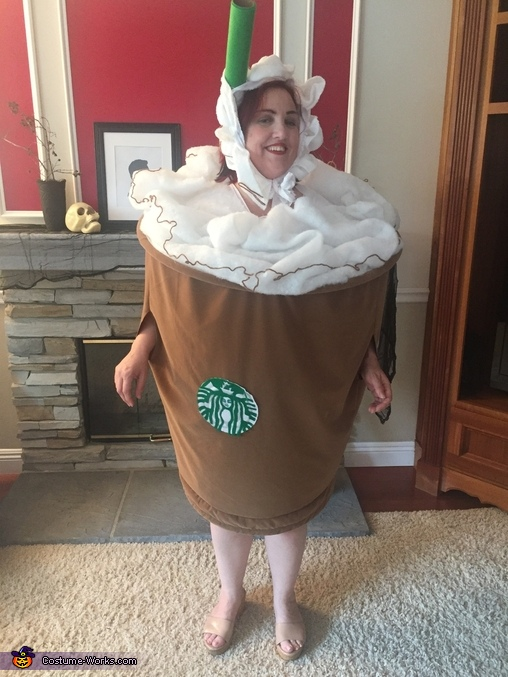 Mini Caramel Frappuccino Homemade Costume