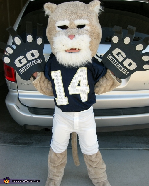 Mini Cougar Mascot - Homemade costumes for boys
