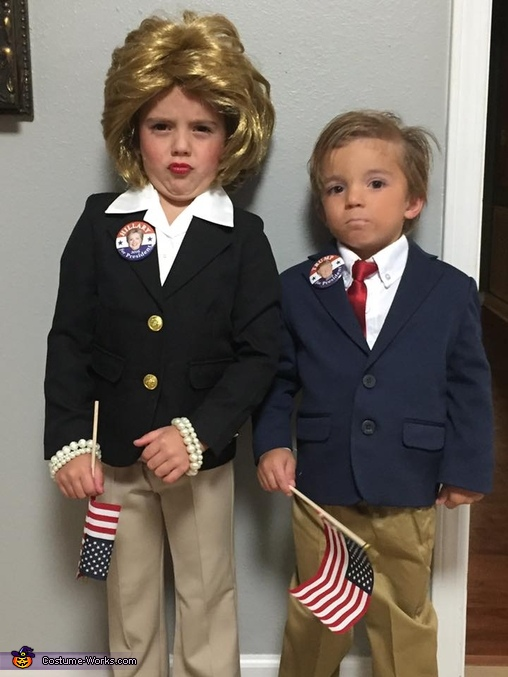 Mini Hillary and Donald Costume