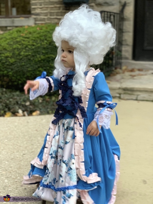 Mini Marie Antionette Homemade Costume