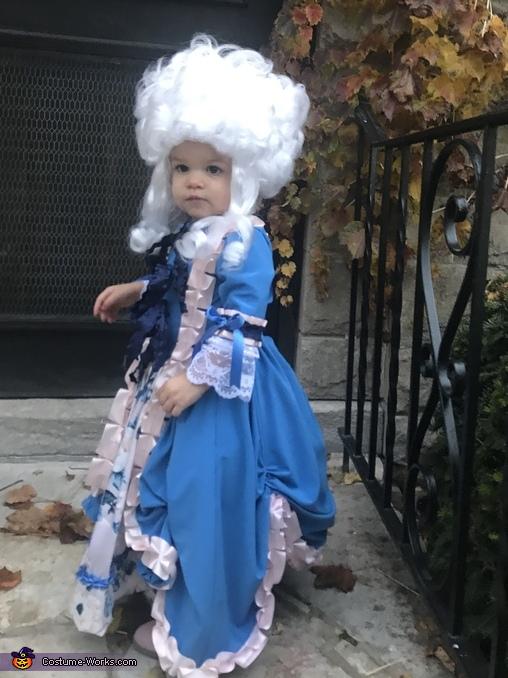 Mini Marie Antionette Homemade Costume